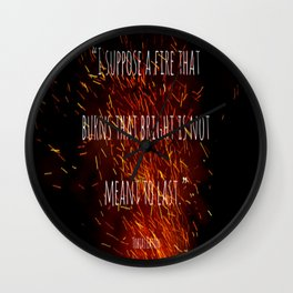 Divergent - Allegiant - Fire that burns that bright Wall Clock