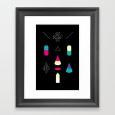 Play on Black Framed Art Print