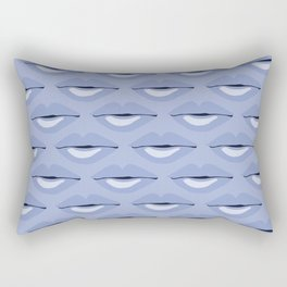 Blue Lips pattern by Our Kitchen Rules Rectangular Pillow