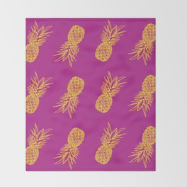 One Dapper Pine Apple Throw Blanket