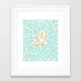 Wild at Heart – Turquoise & Gold Framed Art Print