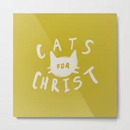 Cats for Christ x Mustard Metal Print