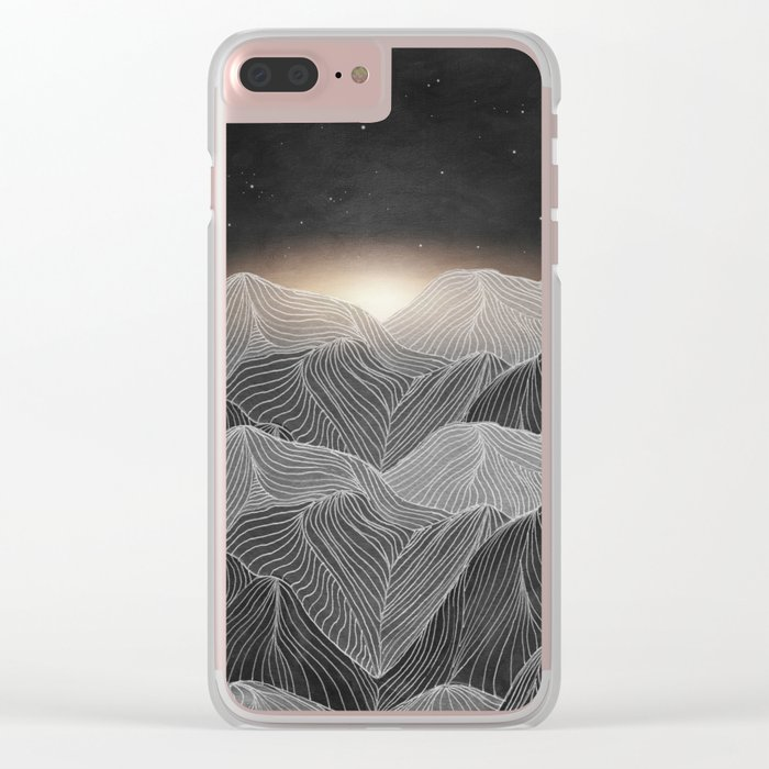 Lines in the mountains XIX Clear iPhone Case