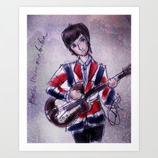 Pete Townshend -Mod era Art Print