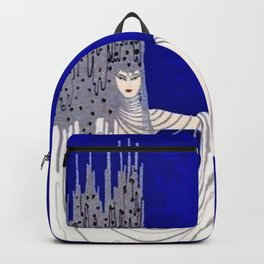 """North Sea"" Art Deco Design Backpack"