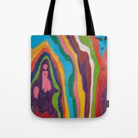"""pastel goth Tote Bags featuring """"Alien Goth"""" (7211) by DelusionalDiva"""