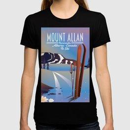 Mount Allan, Kananaskis, Alberta, Canada ski poster T-shirt
