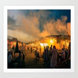 Morocco Bazaar Art Print