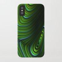 malachite iPhone & iPod Cases featuring Malachite by Vix Edwards - Fugly Manor Art