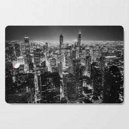 Chicago Skyline at Night Cutting Board