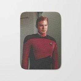 James Tiberius Kirk in TNG uniform Bath Mat