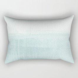 Aqua Blue Horizon Minimalist Abstract Seascape Rectangular Pillow