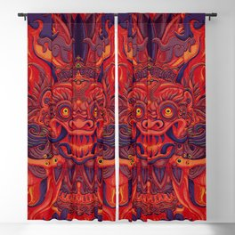 Red Bali Blackout Curtain
