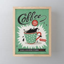 Saved By Coffee Framed Mini Art Print