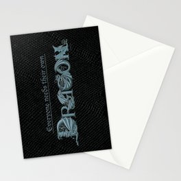 Everyone Needs Their Own Dragon (Silver) Stationery Cards