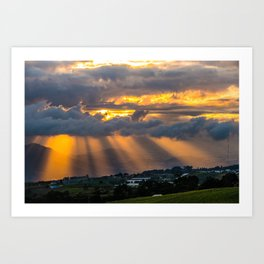 Sunset Cartago, Costa Rica Art Print