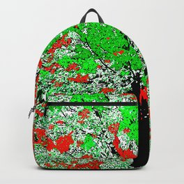 TREE RED AND GREEN LEAF Backpack