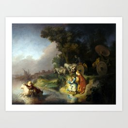 Rembrandt Abduction of Europa Art Print