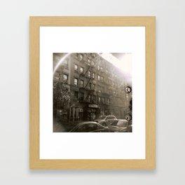New York Street with Holga Framed Art Print