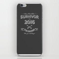 2016 Survivor iPhone & iPod Skin