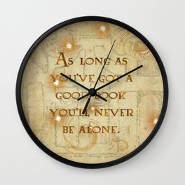 A Good Book Wall Clock