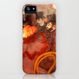 """Henri de Toulouse-Lautrec """"At the Moulins Rouge"""" iPhone Case"""