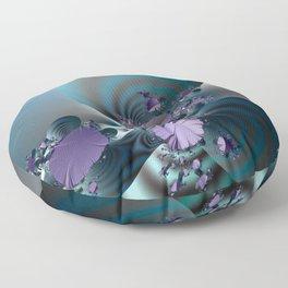 Purple leaves on radar of tranquility Floor Pillow