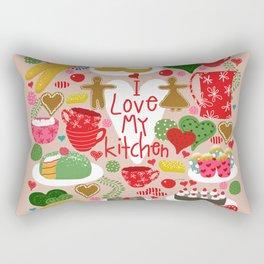 I love my kitchen - Kitchen funnies Rectangular Pillow