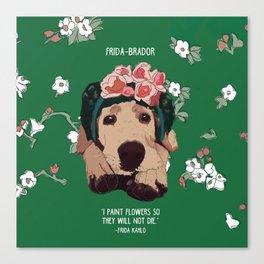 Frida-brador Canvas Print