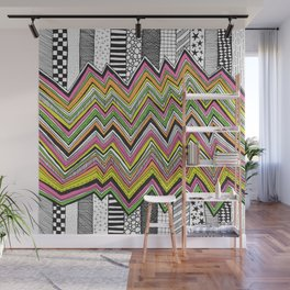 Stripes and Zig Zags Wall Mural