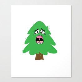 Crying Christmas Tree Canvas Print