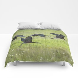 White-Faced Ibis Rising, No. 2 Comforters