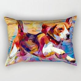 Beach Beagle Rectangular Pillow