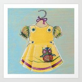 Avery Dress 02 Art Print