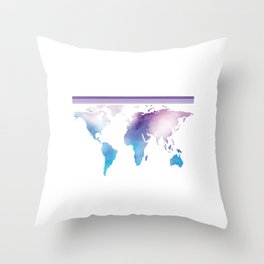 Go Find Yourself - Travel T-Shirt For Everyone, Backpacker, Traveler, Flight Catchers and Adventurer Throw Pillow