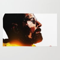 walter white Area & Throw Rugs featuring Walter White  by ConnorEden