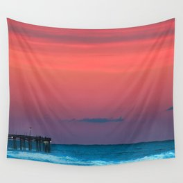 Sunset by the Avalon Pier Wall Tapestry