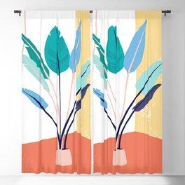 Corner plants Blackout Curtain