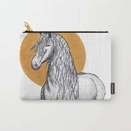Golden Horse Carry-All Pouch