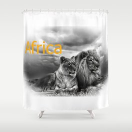 Africa V Shower Curtain