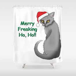 Merry Freaking HO HO!! Shower Curtain