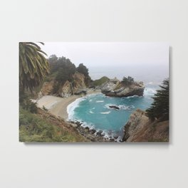 Foggy Day in Big Sur Metal Print
