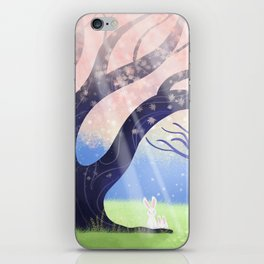 Soft Light On Soft Hares In Aloquil's Glades iPhone Skin