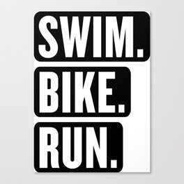 Swim Bike Run Block 1 Canvas Print