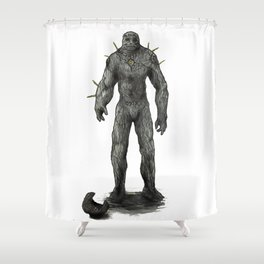 Jewish stone Golem Shower Curtain