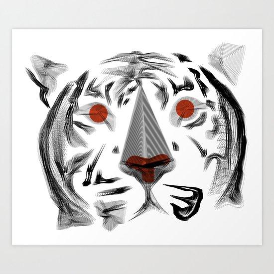 Moirè Tiger Art Print
