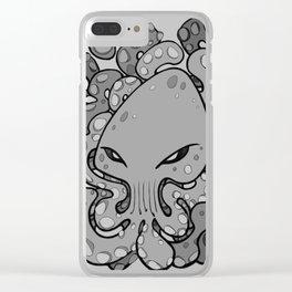 Octopus Squid Kraken Cthulhu Sea Creature - Harbour Mist Clear iPhone Case