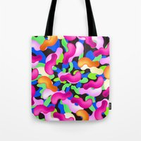 the thing Tote Bags featuring Thing by Danny Ivan
