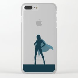 She Is A Superhero Clear iPhone Case