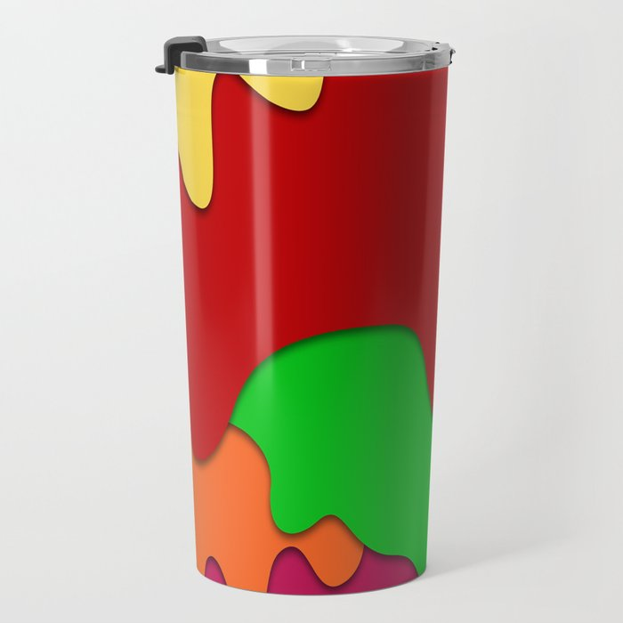 liquid forms water background Travel Mug